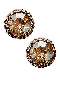 Anne Klein Topaz Button Earrings