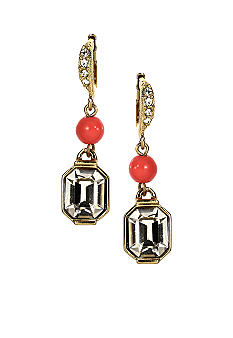 Givenchy Coral Drop Earrings