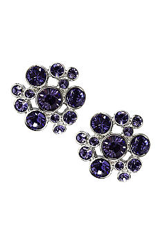 Givenchy Tanzanite Cluster Earrings