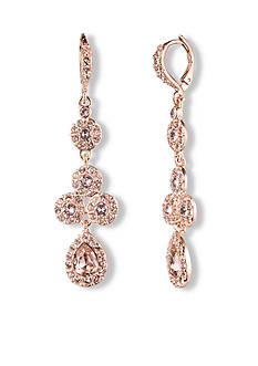 Givenchy Rose Gold-Tone Pear Drop Earring