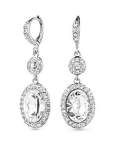 Givenchy Crystal Oval Drop Earrings