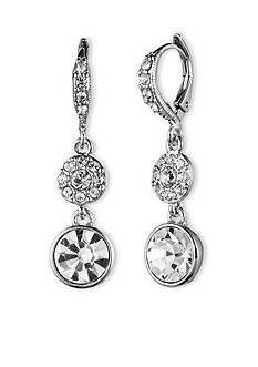 Givenchy Crystal Pave Drop Earrings