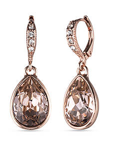 Givenchy Rose Gold-Tone Teardrop Drop Earrings