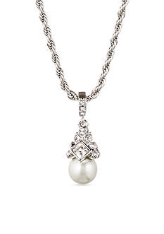 Givenchy Pearl Drop Pendant Necklace