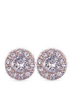 Givenchy Rose Gold-Tone Pave Stud Earrings