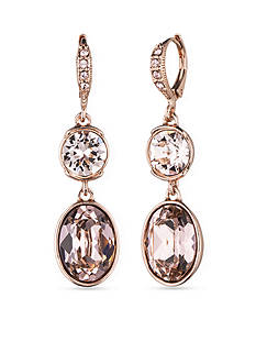 Givenchy Vintage Rose Gold-Tone Double Drop Earrings