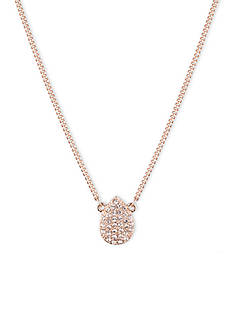 Givenchy Pave Pear Pendant Necklace
