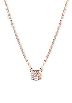 Givenchy Square Pave Pendant Necklace