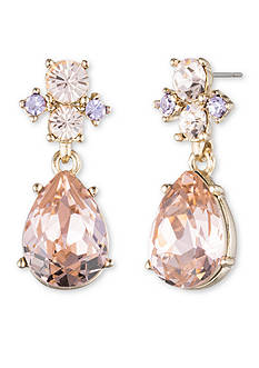 Givenchy Gold-Tone Pear Drop Earrings