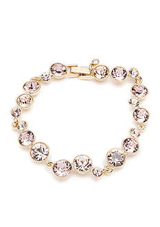 Givenchy Gold-Tone Rose Crystal Flex Bracelet