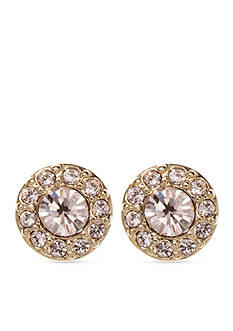 Givenchy Gold-Tone Silk Stone Stud Earrings