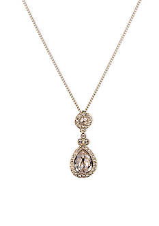 Givenchy Gold-Tone Teardrop Pendant Necklace