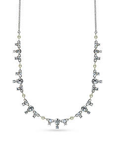 Givenchy Silver-Tone Frontal Necklace