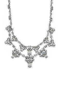 Givenchy Silver-Tone Crystal Collar Necklace