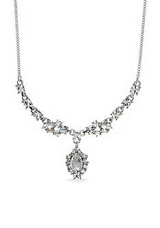 Givenchy Silver-Tone Crystal Y Necklace