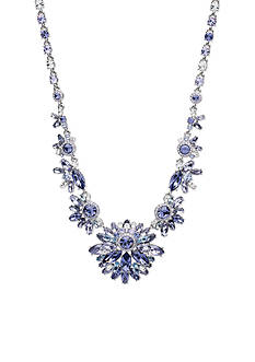 Givenchy Silver-Tone Purple Drama Necklace