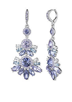Givenchy Silver-Tone Purple Chandelier Earrings