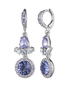 Givenchy Silver-Tone Purple Drop Earrings