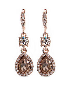 Givenchy Gold-Tone Rose Pear Drop Earrings