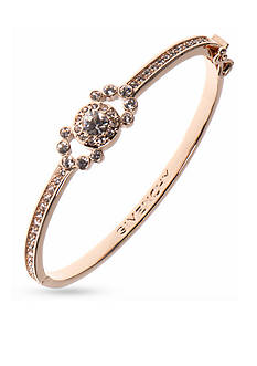 Givenchy Gold-Tone Rose Bangle Bracelet
