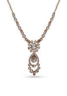 Givenchy Gold-Tone Rose Frontal Necklace
