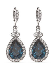 Givenchy Silver-Tone Pear Drop Earrings