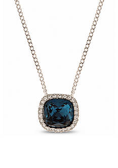 Givenchy Silver-Tone Blue Pendant Necklace