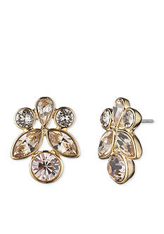 Givenchy Gold-Tone Button Earrings
