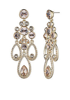 Givenchy Gold-Tone Chandelier Drop Earrings
