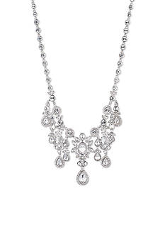 Givenchy Silver Tone Drama Necklace
