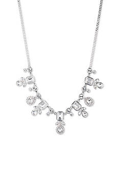 Givenchy Silver-Tone Crystal Frontal Necklace