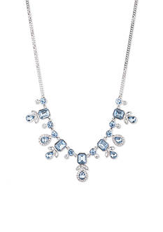 Givenchy Silver-Tone Blue Frontal Necklace