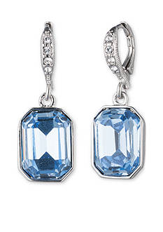 Givenchy Silver-Tone Blue Drop Earrings
