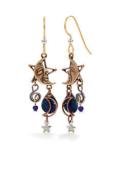 Silver Forest Celestial Charm Cascade Earrings