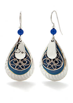 Silver Forest Filigree Drop Earrings