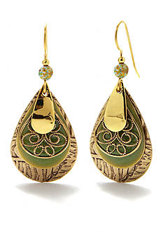 Silver Forest Layered Tear Filigree Earrings