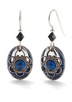 Silver Forest Denim Lapis Drop Earrings
