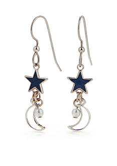 Silver Forest Celestial Charm Drop Earrings