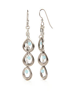 Silver Forest Silver-Tone Out Of The Blues Chandelier Earrings