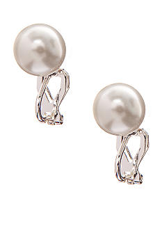 Lauren Ralph Lauren White Pearl Clip Earrings