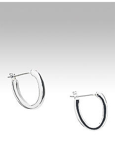 Lauren Ralph Lauren Medium Silver Oval Hoop