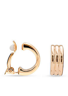 Lauren Ralph Lauren Lauren Gold Hoop Clip On Earrings
