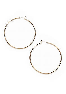 Lauren Ralph Lauren Gold-Tone Hoop Earrings