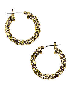 Lauren Ralph Lauren Small Braided Hoop Earrings