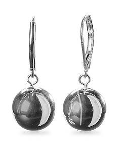 Lauren Ralph Lauren Silver-Tone Drop Bead Earring