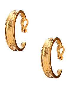 Lauren Ralph Lauren Graduated Hammered Hoop Clip Earrings
