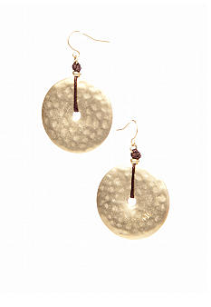 Lauren Ralph Lauren Hammered Disk Drop Earring
