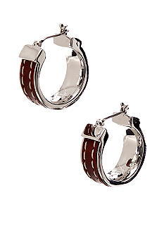 Lauren Ralph Lauren Leather Hoop Earring