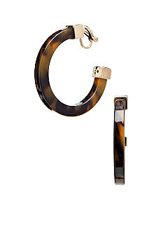 Lauren Ralph Lauren Large Tortoise Hoop Clip Earrings