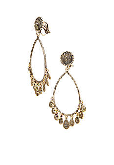 Lauren Ralph Lauren Gold-Tone Gypsy Hoop Clip Earrings